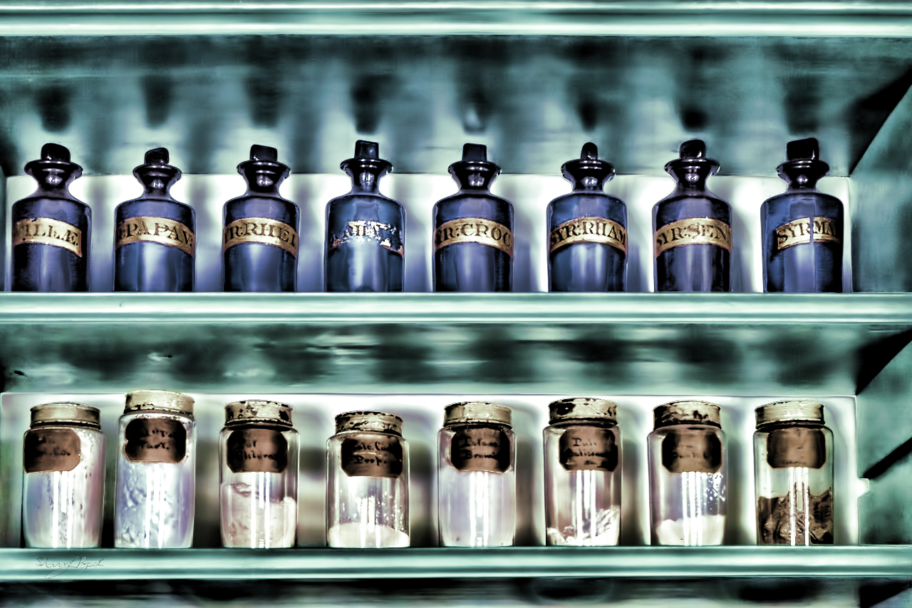 Blue Apothecary Jars