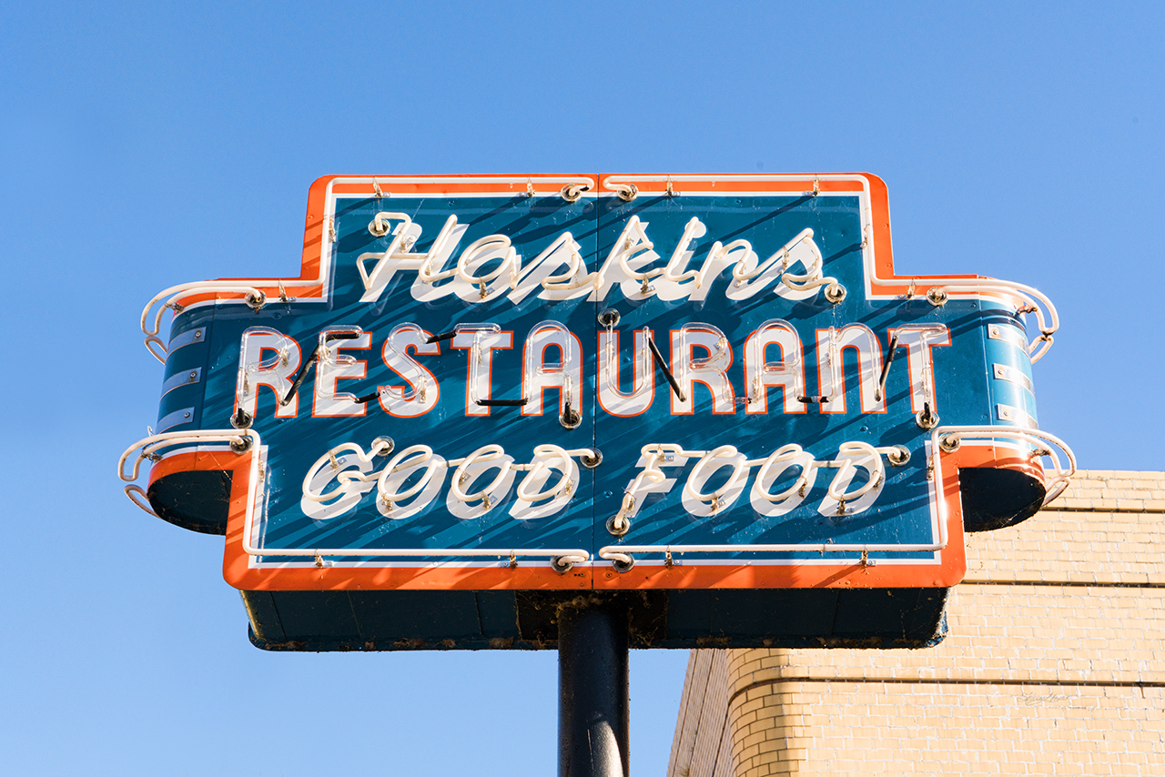 Hoskins restaurant sign