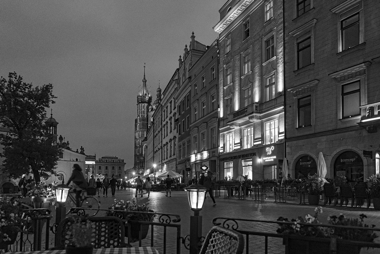 Krakow Nights Black and White