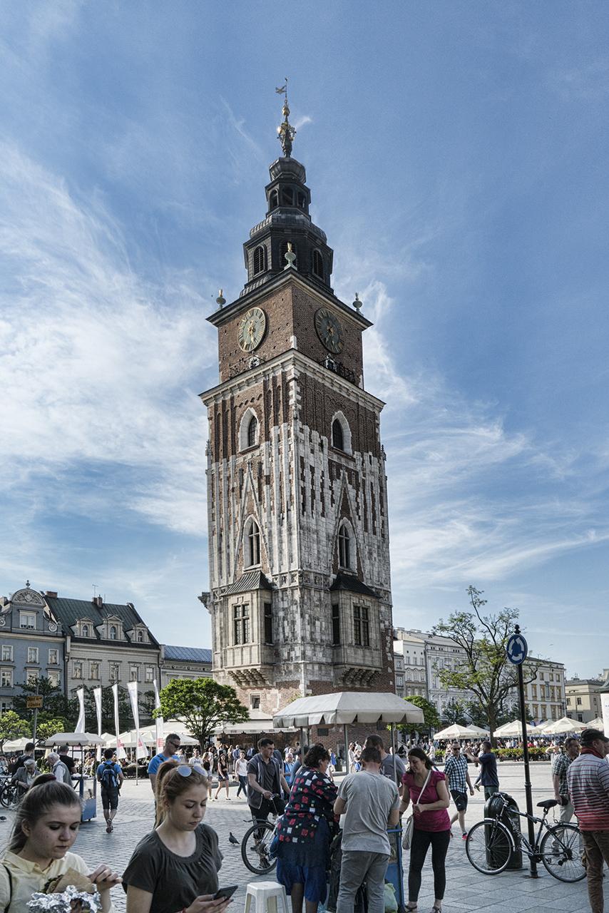Krakow Town Hall Tower Color