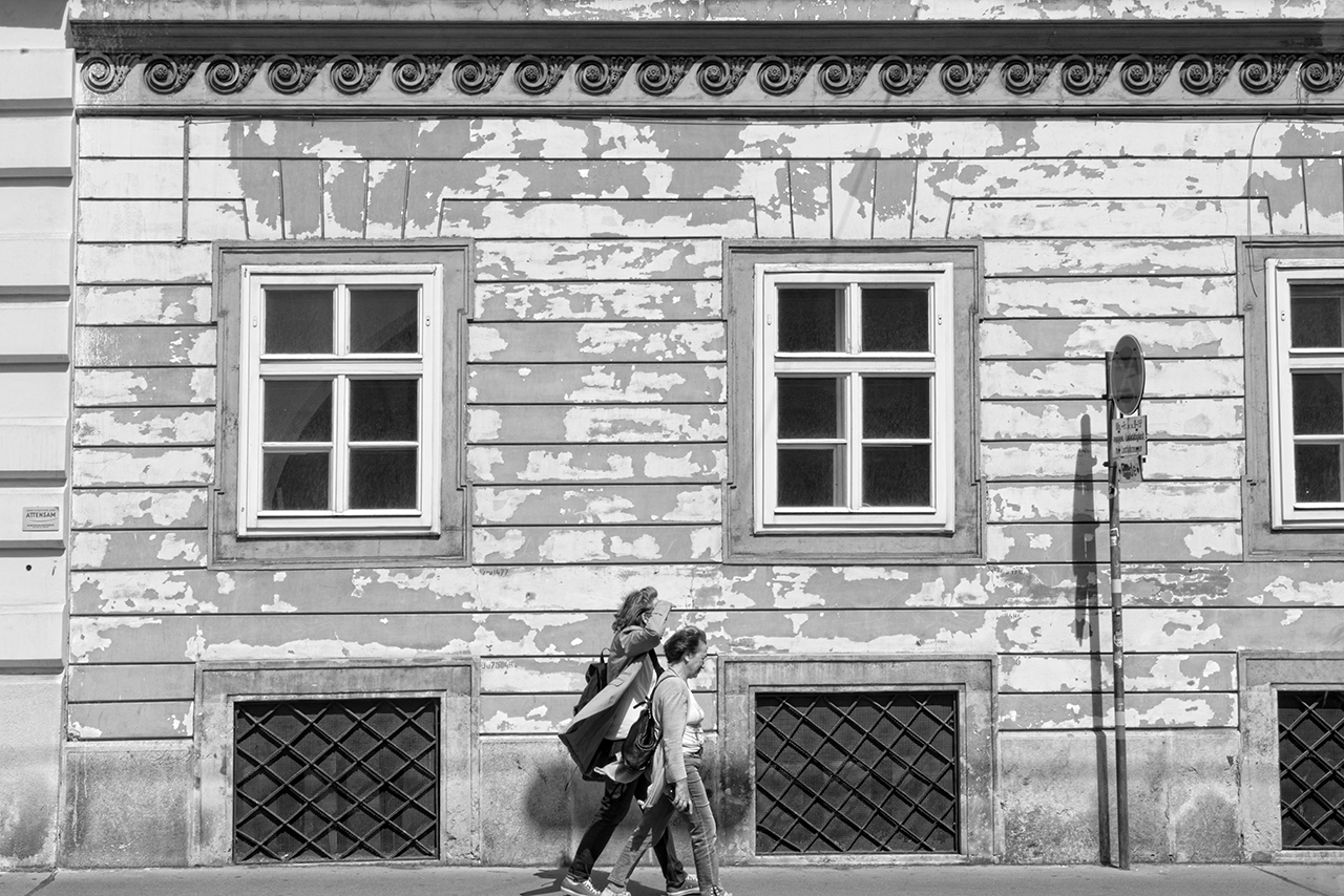 Walkers in Vienna Black and White