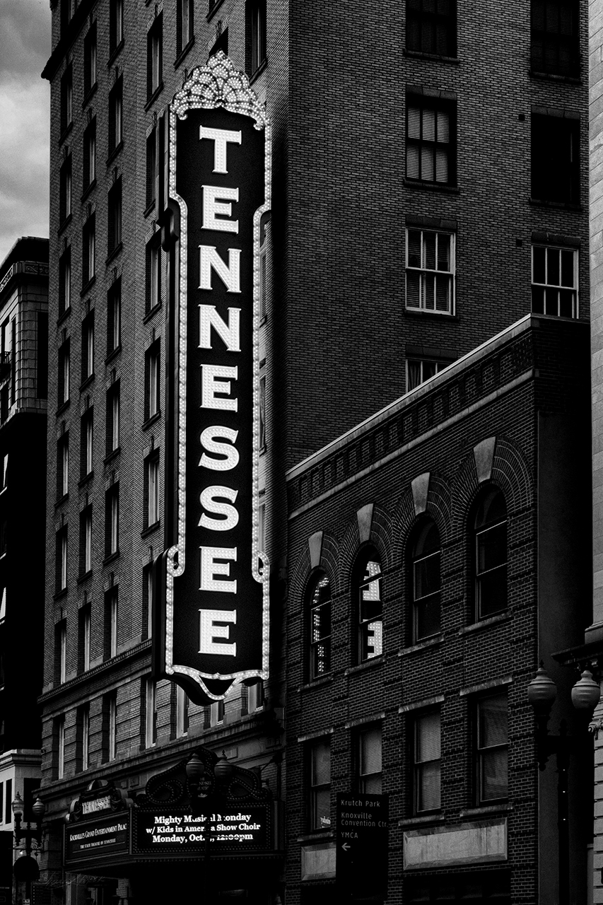 Mighty Tennessee Theatre Black and White