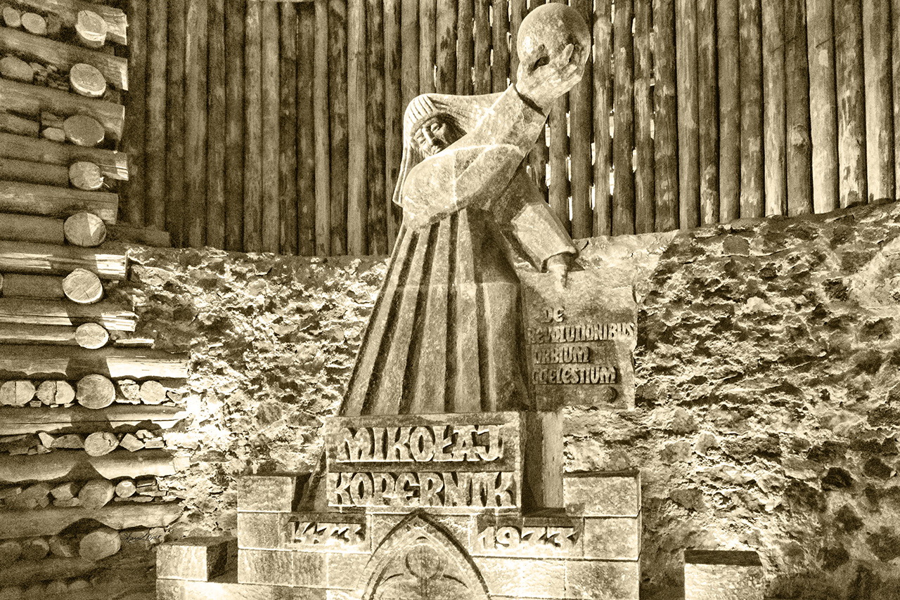 Nicolaus Copernicus Salt Statue
