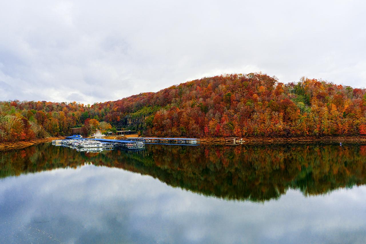 Norris Lake fall reflection