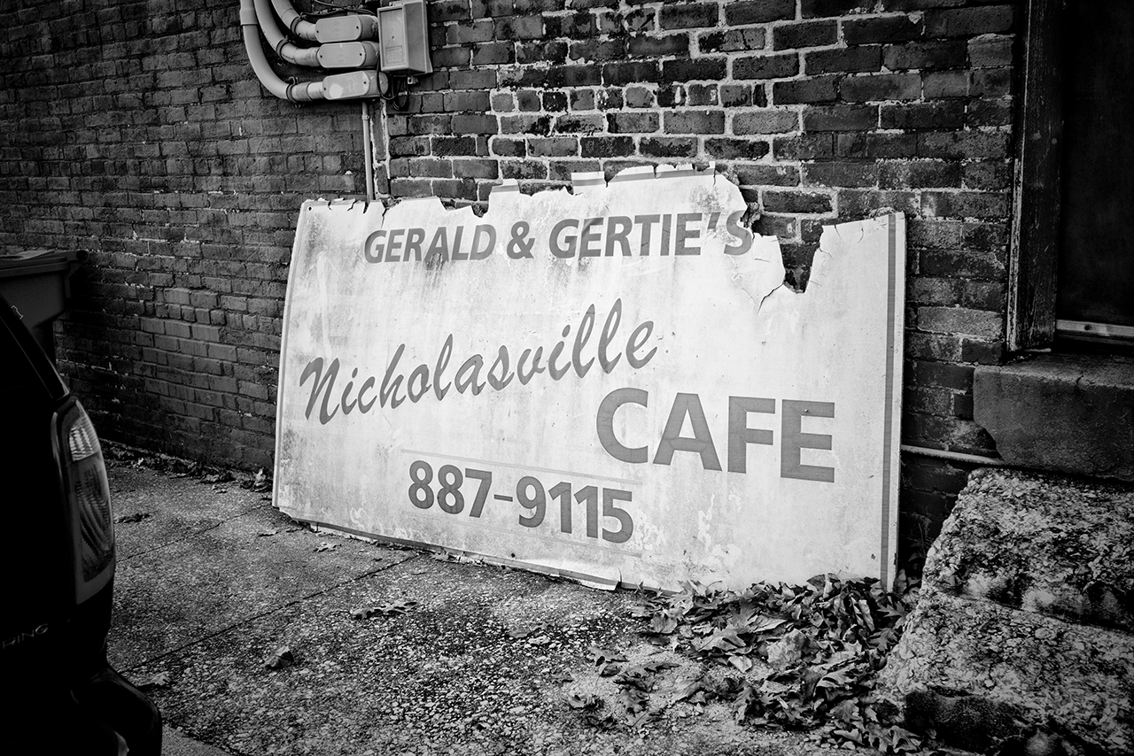 Gerald and Gerties Sign Black and white 2814sm