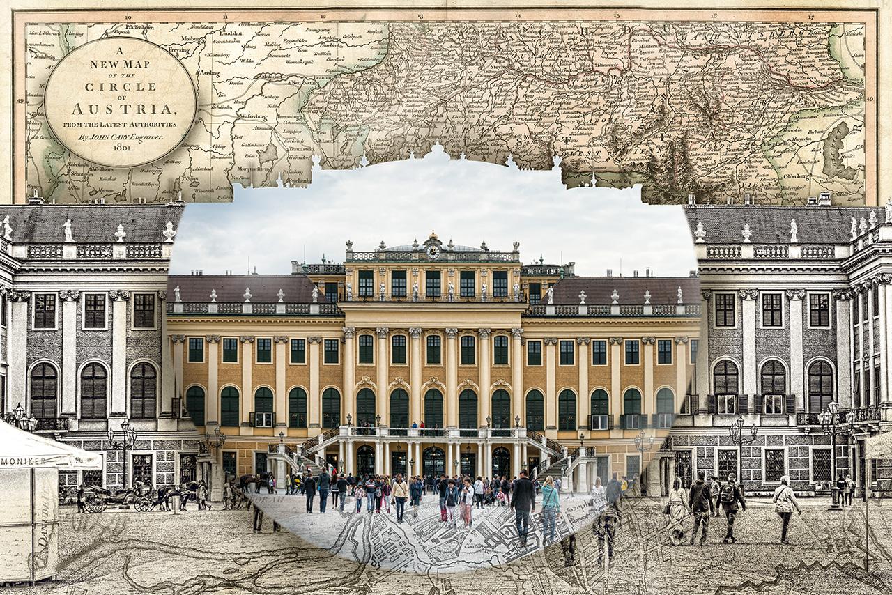Schonbrunn Palace Austria Map Globe