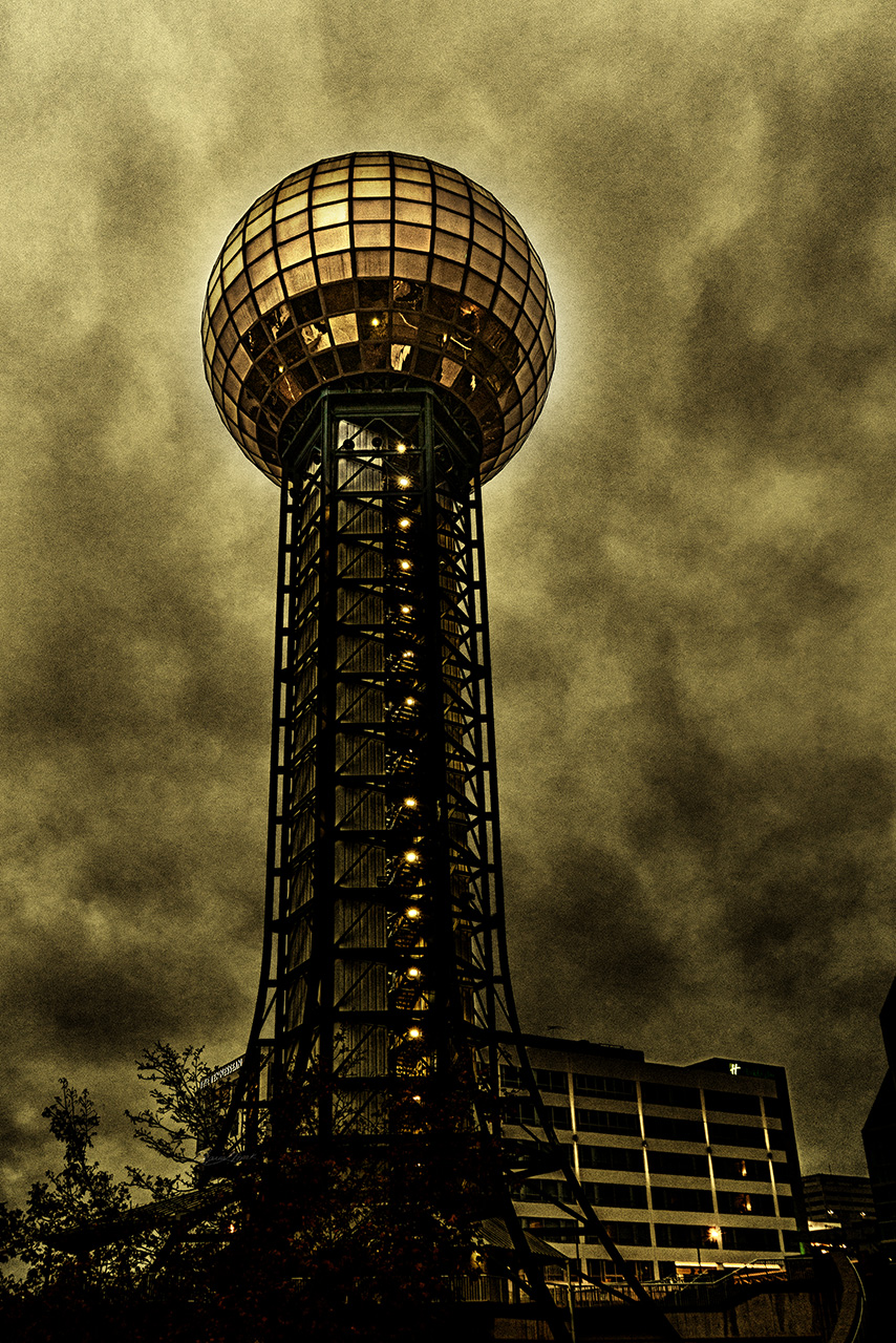 Gold Ball at the Top as Sepia