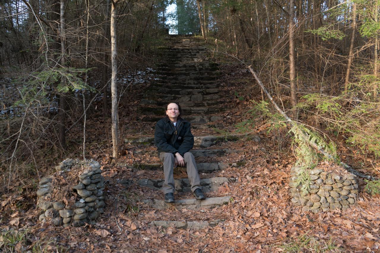 Walt on Wonderland Steps