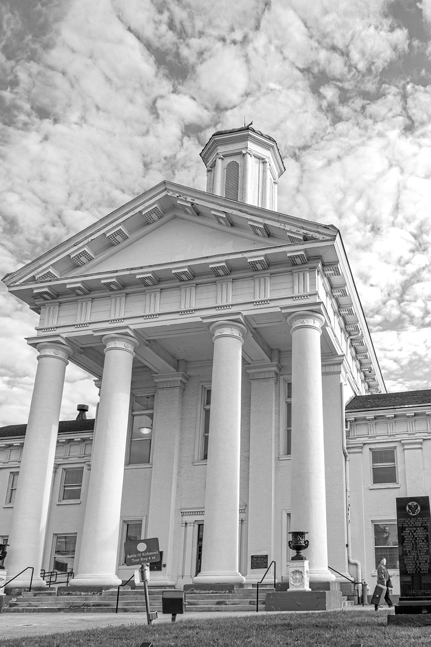 Black and White Courthouse
