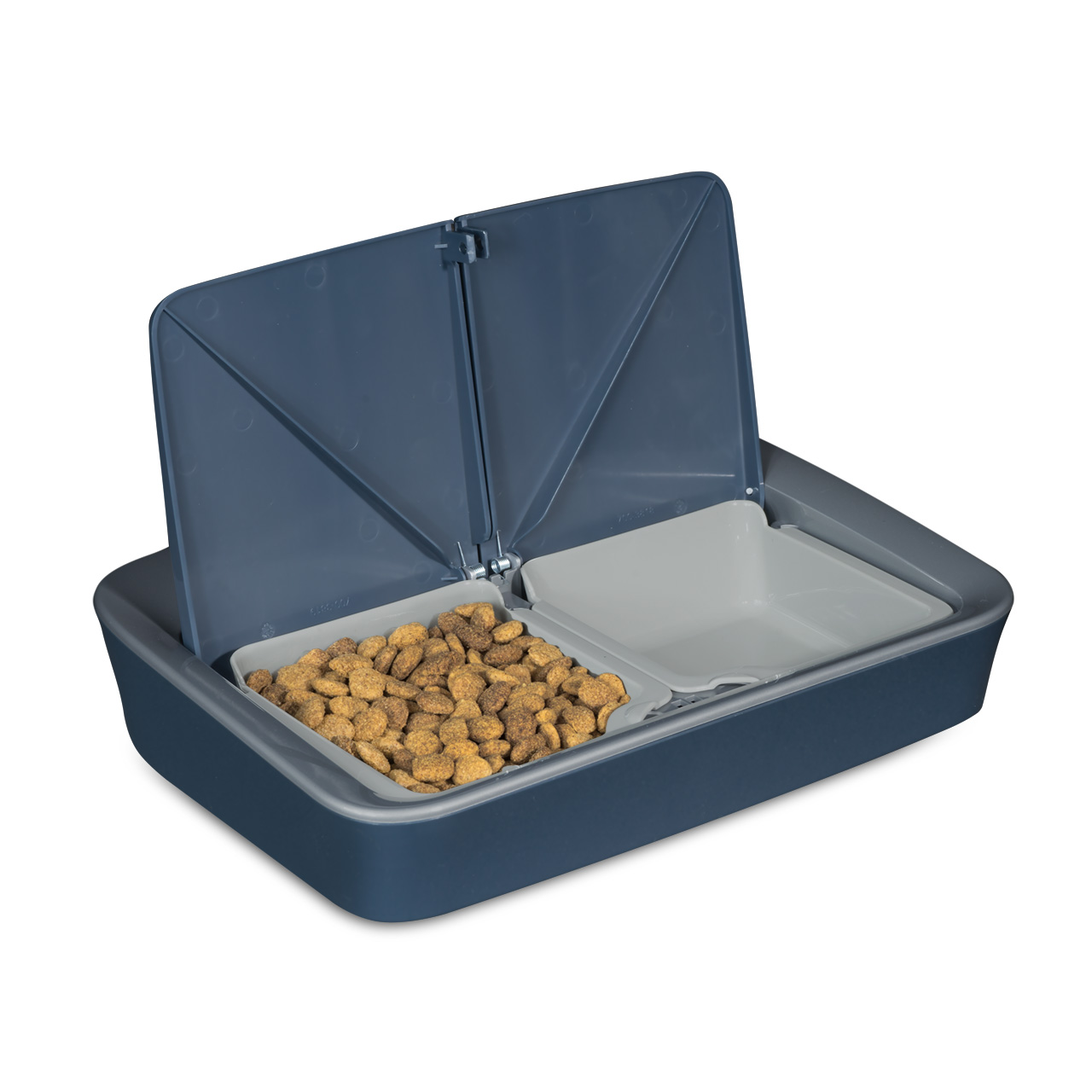 PFD00-15426 2-Meal Feeder_Product_Left Angle_Both Open_Food