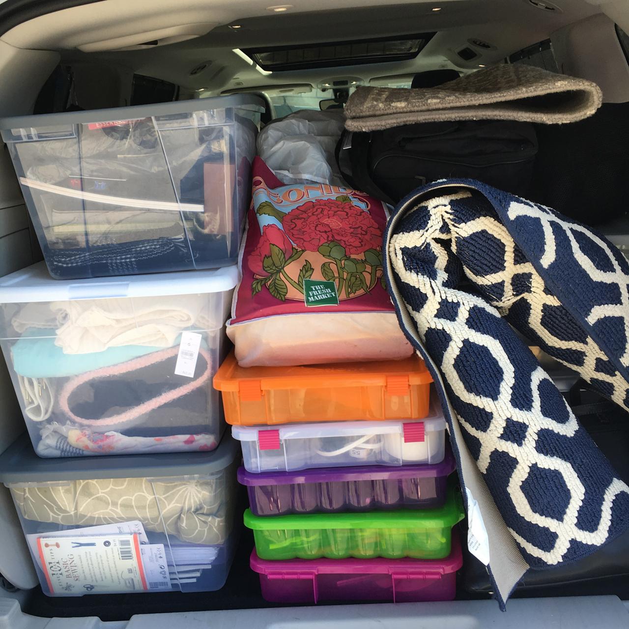 packed van